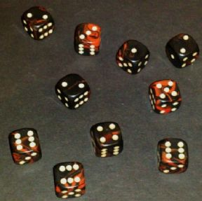 12mm Oblivion Spot Dice - Red